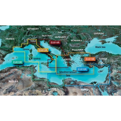 CARTUCCIA GARMIN REGULAR BLUECHART G2 VISION
