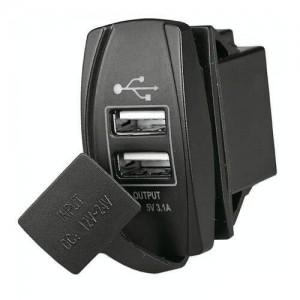 PRESA  DOPPIA USB RETTANGOLARE